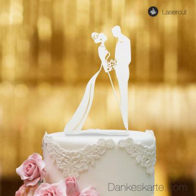 Cake Topper Brautpaar - Weiss - XL
