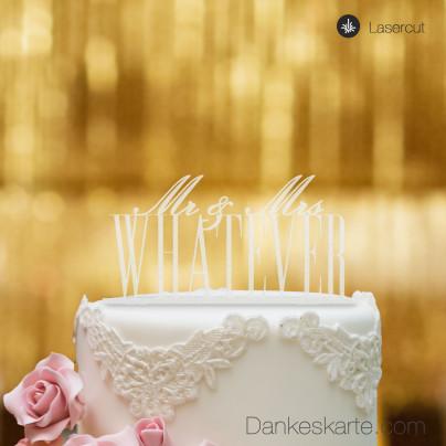 Cake Topper Mr&Mrs personalisiert - Satiniert - XL
