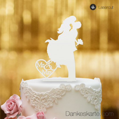 Cake Topper Sprung - Weiss - XL