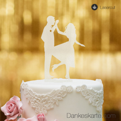 Cake Topper Tanz - Satiniert - XL