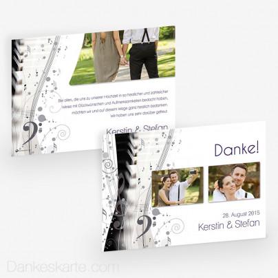 Dankeskarte Music Sheet 21 x 15 cm
