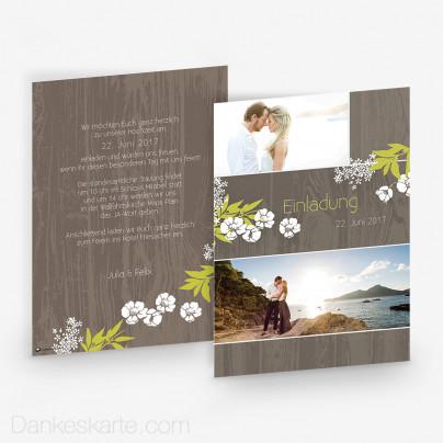 Hochzeitseinladung Forest 15 x 21 cm