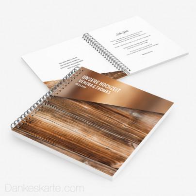 Gästebuch Glas und Holz