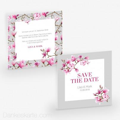 Save-the-Date Magnolie 14.5 x 14.5 cm