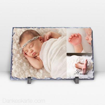 Geburtstafel Lolith aus Stein 29 x 19 cm