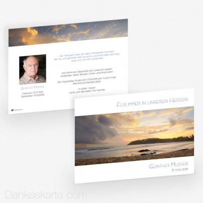 Trauerkarte Ewiges Licht 21 x 15 cm