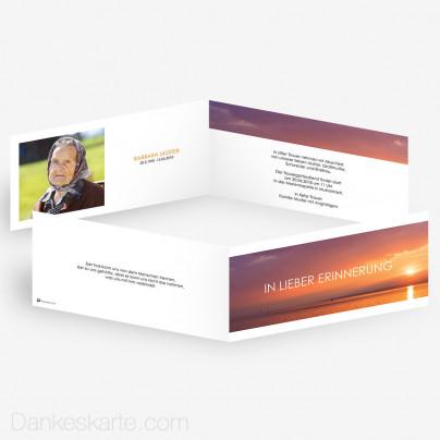 Trauerkarte Lichtstimmung 21 x 10 cm