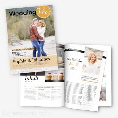 Hochzeitszeitung Gold & Silver - 20 Seiten