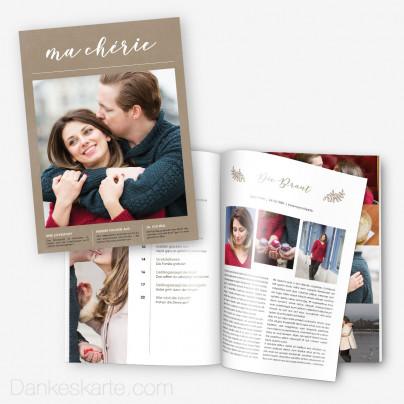 Hochzeitszeitung Kraftpapier Eleganz - 20 Seiten
