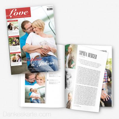 Hochzeitszeitung Love