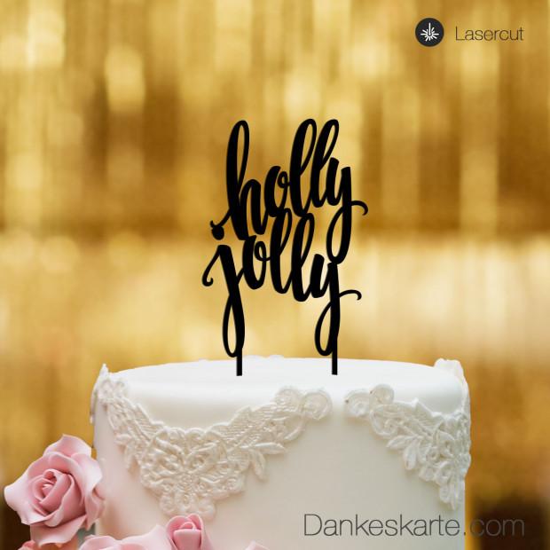 Cake Topper Holly Jolly - Schwarz - XL
