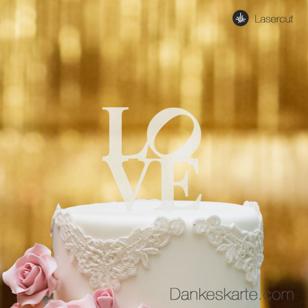 Cake Topper Love - Satiniert