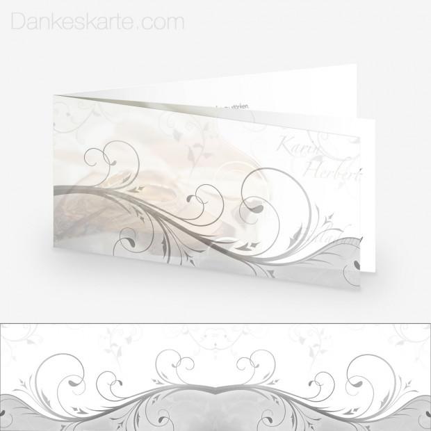 Transparente Hülle Ranken 1 (für 21x10cm Karten)