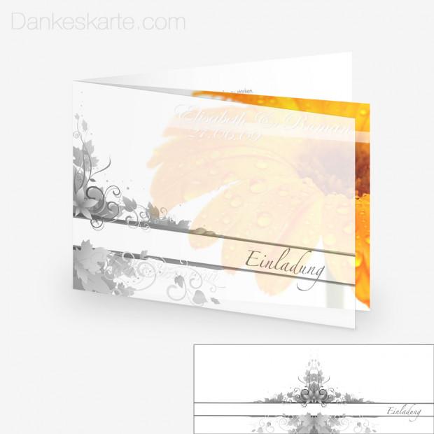 Transparente Hülle Ranken 2 (für 21x15cm Karten)