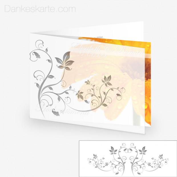 Transparente Hülle Ranken 4 (für 21x15cm Karten)