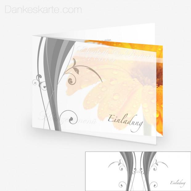 Transparente Hülle Ranken 5 (für 21x15cm Karten)