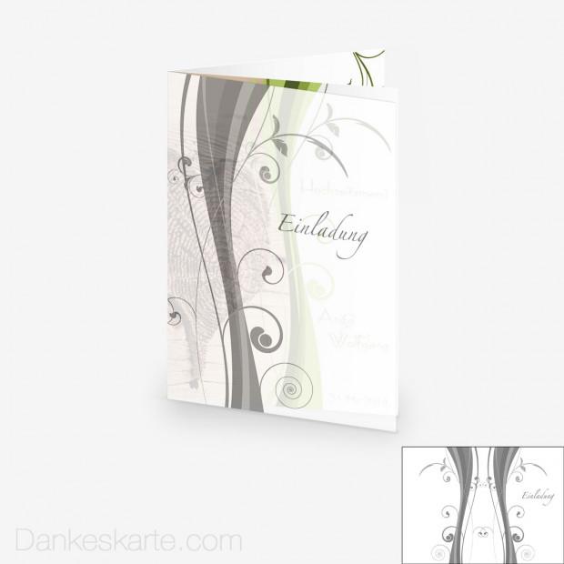 Transparente Hülle Ranken 5 (für 15x21cm Karten)
