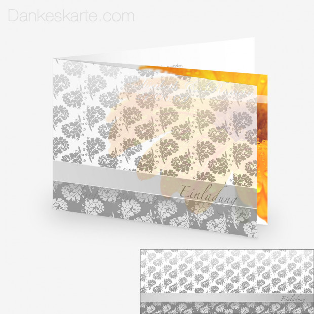 Transparente Hülle Ranken 10 (für 21x15cm Karten)