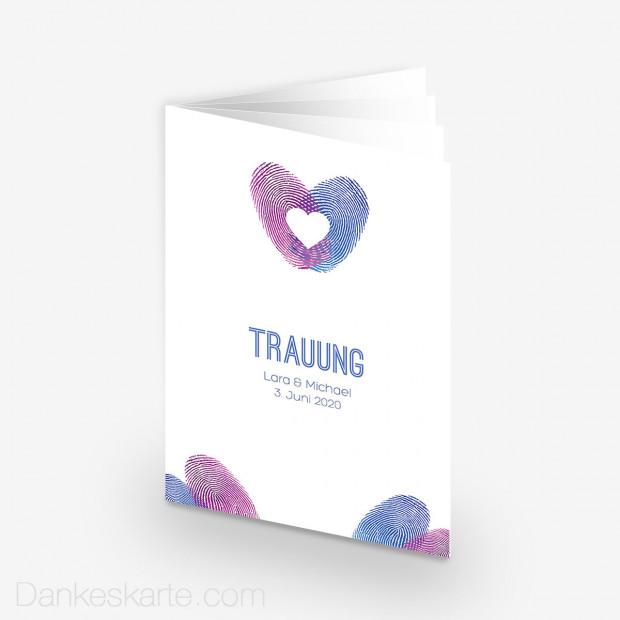 Kirchenheft Fingerabdruck Herz 15 X 21 Cm Dankeskarte Com