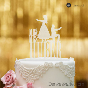 Cake Topper Double James personalisiert - Satiniert - XL