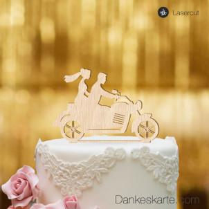 Cake Topper Motorrad - Buchenholz - XL