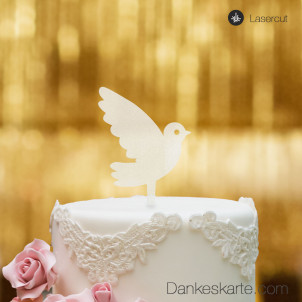 Cake Topper Taube - Satiniert - S