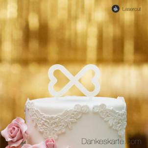Cake Topper Unendliche Herzen - Satiniert - S