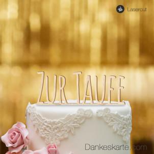 Cake Topper Zur Taufe Blockbuchstaben - Buchenholz - XL