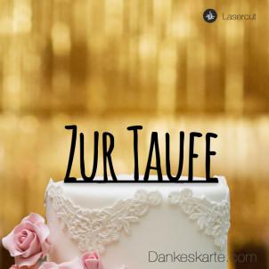 Cake Topper Zur Taufe Blockbuchstaben - Schwarz - XL