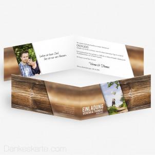 Hochzeitseinladungen im modernen Design - Dankeskarte.com