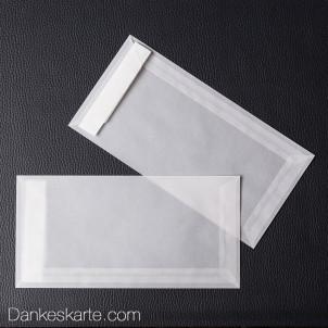 Kuvert transparent 21x10cm - seitliche Öffnung