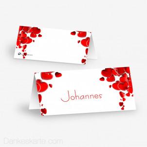 Tischkarte Aufsteller Heart 10 x 4.5 cm