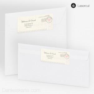 Absenderetikett Air Mail 9 x 4 cm
