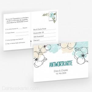 Antwortpostkarte Blühende Phantasie 15 x 10 cm