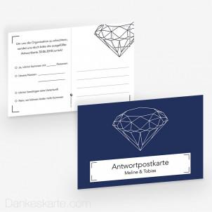 Antwortpostkarte Diamant 15 x 10 cm
