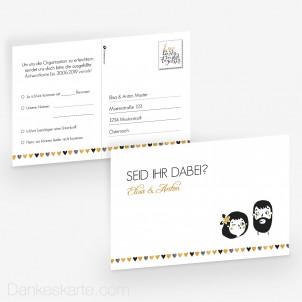 Antwortpostkarte Dreamteam 15 x 10 cm