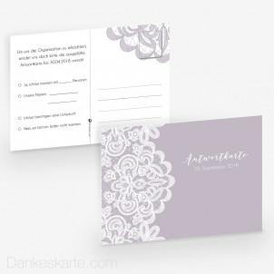 Antwortpostkarte Pocketfold Einsame Spitze 14 x 10 cm