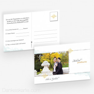 Antwortpostkarte Elegance 15 x 10 cm