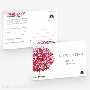 Antwortpostkarte Flourit 15 x 10 cm