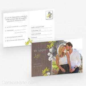 Antwortpostkarte Forest 15 x 10 cm