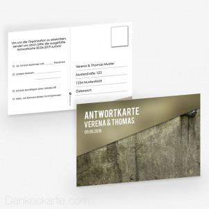 Antwortpostkarte Glas und Stein 15 x 10 cm