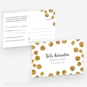 Antwortpostkarte Goldschimmer 1 15 x 10 cm