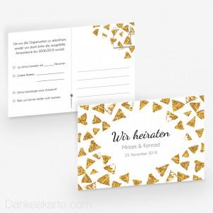 Antwortpostkarte Goldschimmer 2 15 x 10 cm