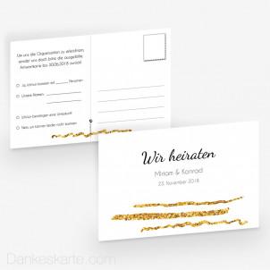 Antwortpostkarte Goldschimmer 4 15 x 10 cm