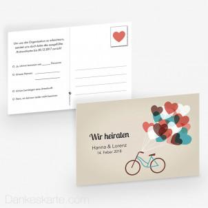 Antwortpostkarte Herzensangelegenheit 15 x 10 cm