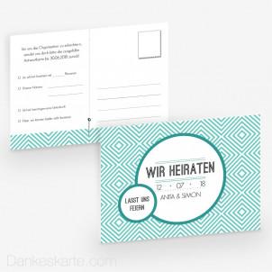 Antwortpostkarte Pocketfold Klare Formen 14 x 10 cm