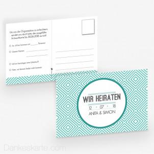 Antwortpostkarte Klare Formen 15 x 10 cm