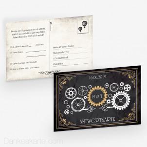 Antwortpostkarte Steampunk 15 x 10 cm