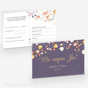 Antwortpostkarte Streublumen 15 x 10 cm