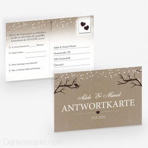Antwortpostkarte Verschneit 15 x 10 cm